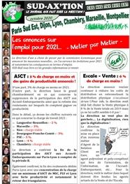 CSE AXE TGV SUD-EST : les annonces sur l'emploi pour 2021 par métier