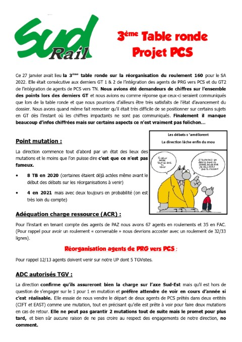 3eme table ronde Projet Pcs