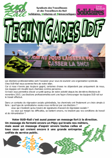 Technigares IDF : Spécial élection