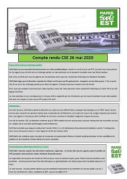 TMV : Compte rendu CSE 26 mai 2020