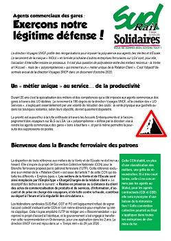 Agents commerciaux des gares : exerçons notre légitime défense !