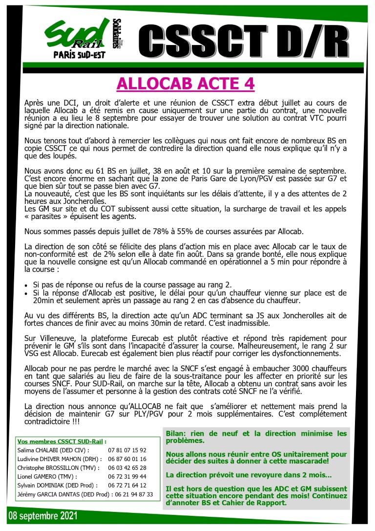 ALLOCAB : Acte 4