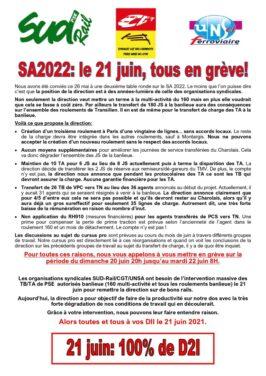 SA 2022 : Le 21 juin tous en grève !