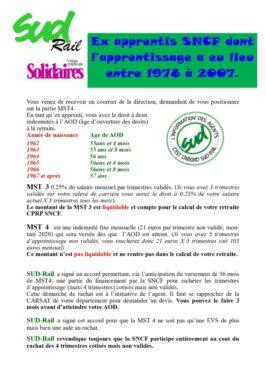 Ex- apprentis SNCF dont l'apprentissage a eu lieu entre 1978 et 2007 : Précisions sur vos droits à la retraite