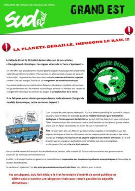 La planète déraille, imposons le rail ! Rassemblement à Metz le 7 octobre 2021