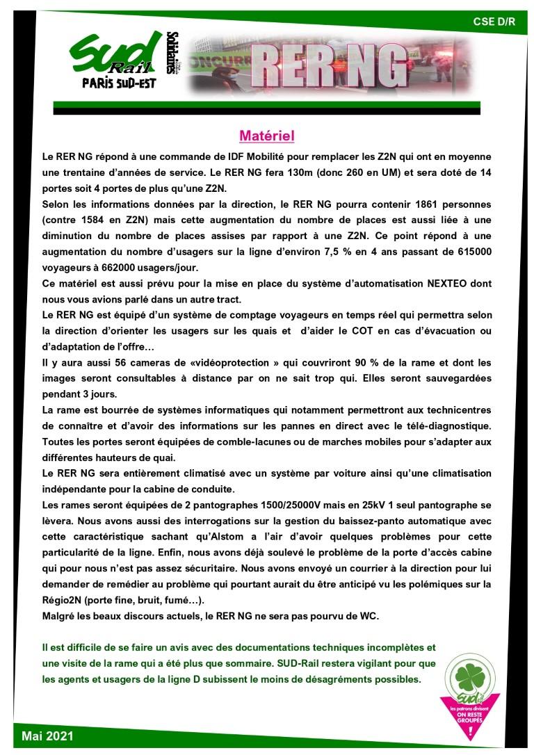"""Ligne D, RER NG : """"Nouvelle galère ?"""""""