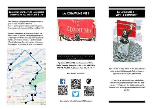 BALADE SUR LES TRACES DE LA COMMUNE DIMANCHE 16 MAI 2021 DE 14H À 17H