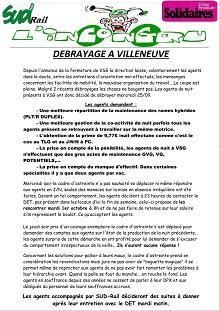 TSEE : Débrayage à Villeneuve