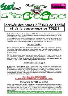 Arrivée des rames ZEFIRO de Thello et de la concurrence au TSEE !